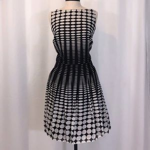 EUC TALBOTS BLACK/WHITE POLKA DOT DRESS SIZE 16W